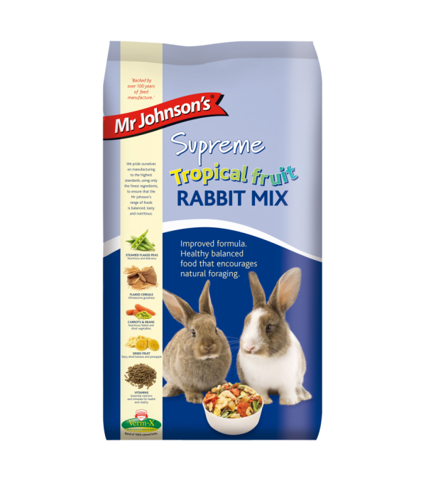 Mr Johnson's Supreme Tropical Fruit RABBIT MIX 2.25kg